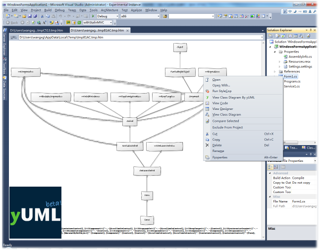 Yuml extension visual studio marketplace use of httpyuml to generate class diagram thanks for tobin harris ccuart